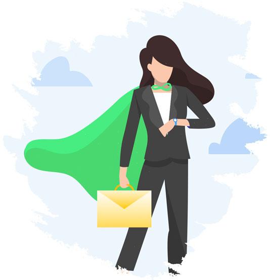super sales woman